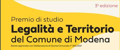 Premio studio: Legalità e territorio del Comune di Modena