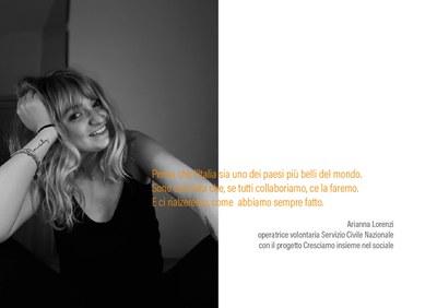 Arianna Lorenzi - volontaria in Servizio Civile -  #iorestoacasa